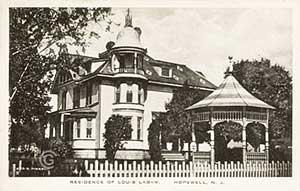 Labaw Residence on Louellen Street -- Vintage postcard, Hopewell NJ