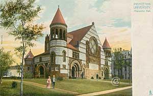 Alexander Hall, Princeton University -- Vintage postcard, Princeton NJ