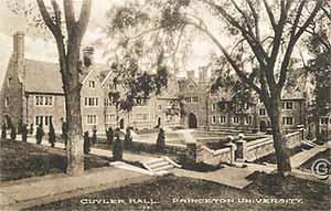 Cuyler Hall, Princeton University -- Vintage postcard, Princeton NJ