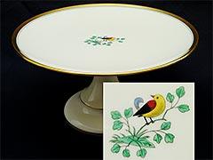 Lenox 1930s Pedestal Cake Stand w/ Bird Decoration