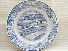 Vintage 1940s Atlantic City NJ Boardwalk Souvenir Plate