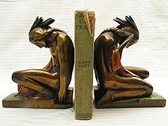 c.1925 Native American Bronze-clad Antique Bookends