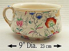 "1870s Brownfield & Son ""Thunder Mug"" Ceramic Chamber Pot"