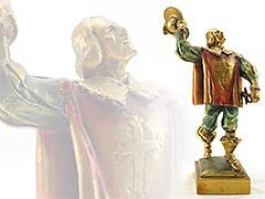 """""""Musketeer"""" Herzel Pompeian Bronze Bookend"""