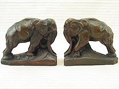 """Elephant"" KBW Kathodion Bronze Works Bookends"