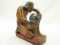 """Creation Myth"" Pompeian Bronze Bookend"
