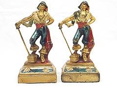 """Swashbuckler Pirate"" Armor Bronze Bookends"