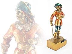 Pirate w/Dagger Herzel Pompeian Bronze Bookend